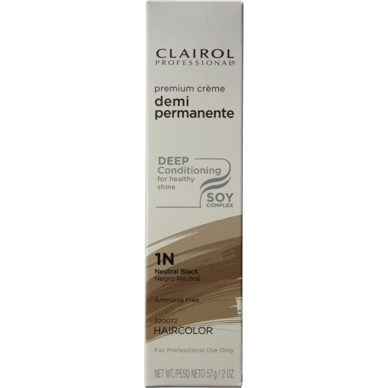 Clairol Professional Pro Creme Demi 1N Neutral Black