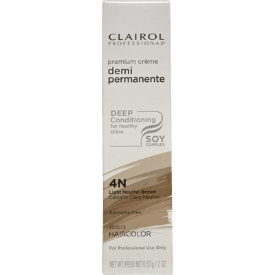 Clairol Professional Pro Creme Demi 4N Light Neutral Brown