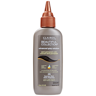 Clairol Professional Beautiful Collection Advanced Gray Solution Semi Permanent Hair Color 2N Espresso Brown