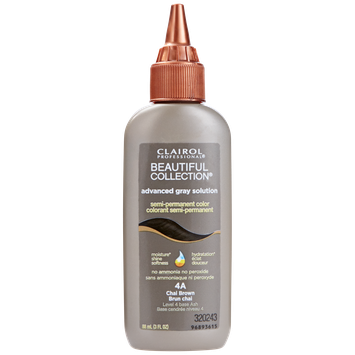 Clairol Professional Beautiful Collection Advanced Gray Solution Semi Permanent Hair Color 4A Chai Brown