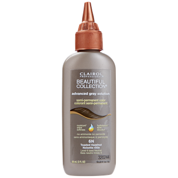 Clairol Professional Beautiful Collection Advanced Gray Solution Semi Permanent Hair Color 6N Toasted Hazelnut