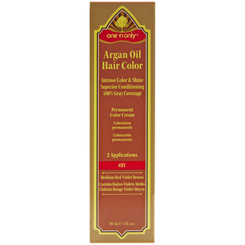 One 'n Only Argan Oil Hair Color Permanent Red Shades 4RV Medium Red Violet Brown