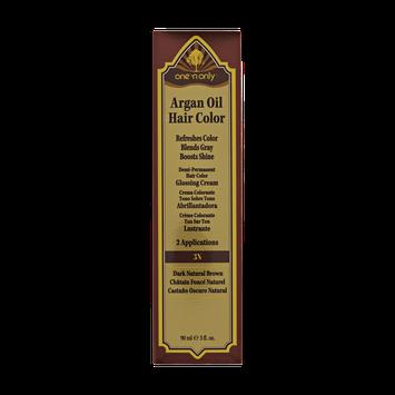 One 'n Only Argan Oil Hair Color Demi-Permanent Glossing Cream #3N Dark Natural Brown