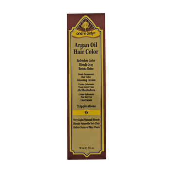 One 'n Only Argan Oil Hair Color Demi-Permanent Glossing Cream #9N Very Light Natural Blonde