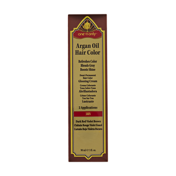 One 'n Only Argan Oil Hair Color Demi-Permanent Glossing Cream #3RV Dark Red Violet Brown