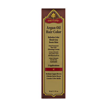 One 'n Only Argan Oil Hair Color Demi-Permanent Glossing Cream #4C Medium Copper Brown