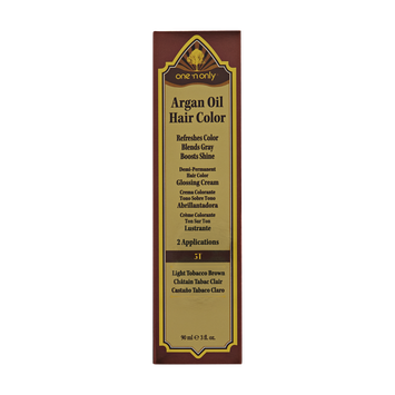 One 'n Only Argan Oil Hair Color Demi-Permanent Glossing Cream #5T Light Tobacco Brown
