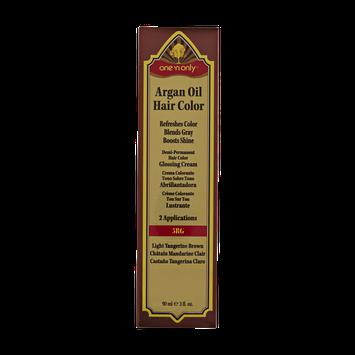 One 'n Only Argan Oil Hair Color Demi-Permanent Glossing Cream #5RG Light Tangerine Brown