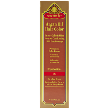 One 'n Only Argan Oil Hair Color Permanent Red Shades 3R Dark Red Brown