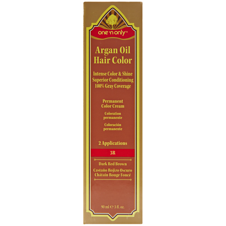 One N Only Argan Oil Hair Color Permanent Red Shades 3r Dark Red