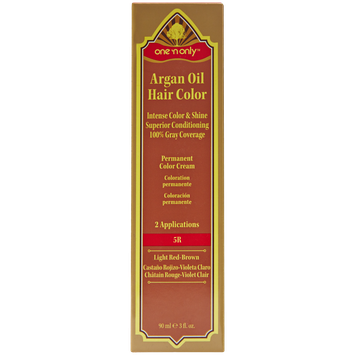 One 'n Only Argan Oil Hair Color Permanent Red Shades 5R Light Red Brown