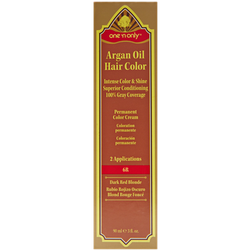 One 'n Only Argan Oil Hair Color Permanent Red Shades 6R Dark Red Brown