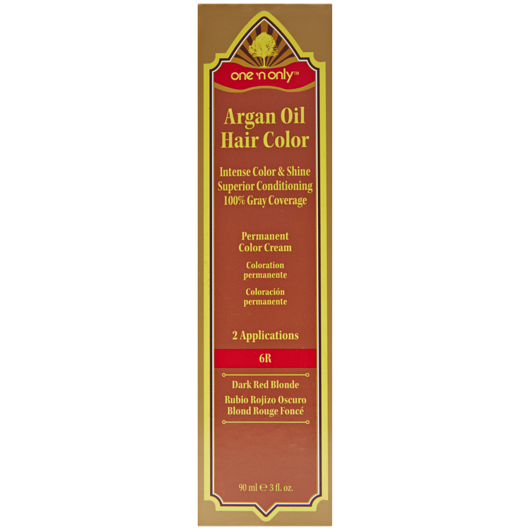 One N Only Argan Oil Hair Color Permanent Red Shades 6r Dark Red