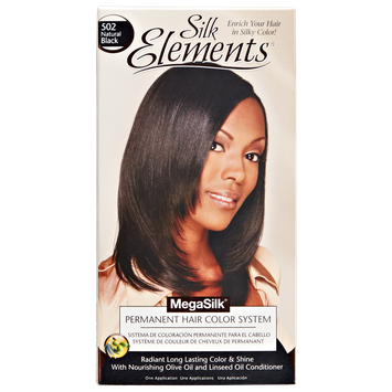 Silk Elements MegaSilk Hair Color System Natural Black