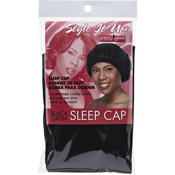 Proclaim Style It Up Black Satin Sleep Cap