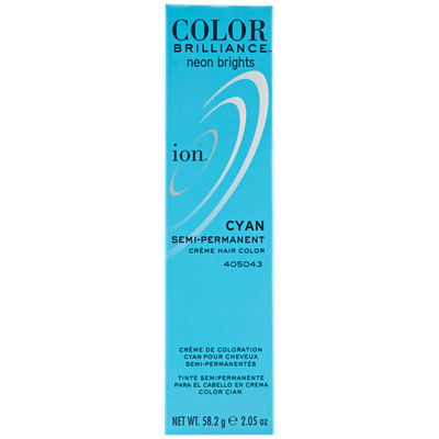 Ion Color Brilliance Semi Permanent Neon Brights Hair Color Cyan
