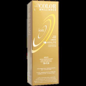 Ion Color Brilliance Permanent Creme 10 Minute Hair Color 7G Medium Gold Ash Blonde