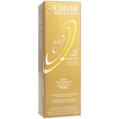 Ion Color Brilliance Permanent Creme 10 Minute Hair Color 9G Very Light Gold Blonde