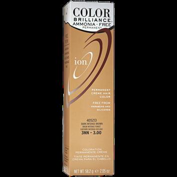 Ion Color Brilliance Ammonia Free Permanent Creme Hair Color 3NN Dark Intense Brown