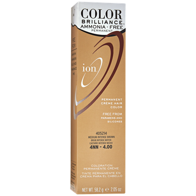 Ion Color Brilliance Ammonia Free Permanent Creme Hair Color 4NN Medium Intense Brown