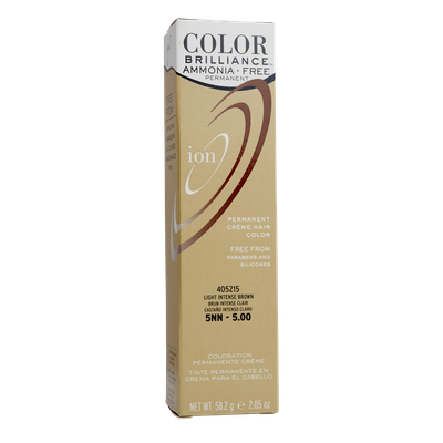 Ion Color Brilliance Ammonia Free Permanent Creme Hair Color 5NN Light Intense Brown