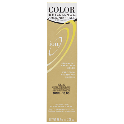 Ion Color Brilliance Ammonia Free Permanent Creme Hair Color 10NN Lightest Intense Blonde