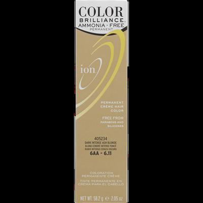 Ion Ammonia Free Hair Color 6AA Dark Intense Ash Blonde