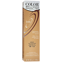 Ion Color Brilliance Ammonia Free Permanent Creme Hair Color 5G Light Golden Brown