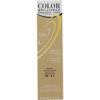 Ion Color Brilliance Ammonia Free Permanent Creme Hair Color 8G Light Golden Blonde