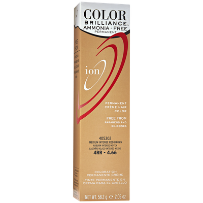 Ion Color Brilliance Ammonia Free Permanent Creme Hair Color 4RR Medium Intense Red Brown