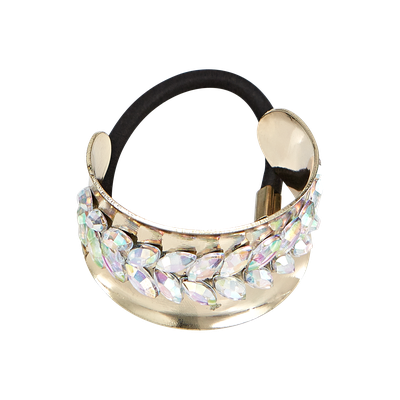 Dcnl Hair Accessories DCNL Gold Pony Cuff with Stones