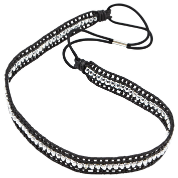 Dcnl Hair Accessories DCNL Black and Silver Headwrap
