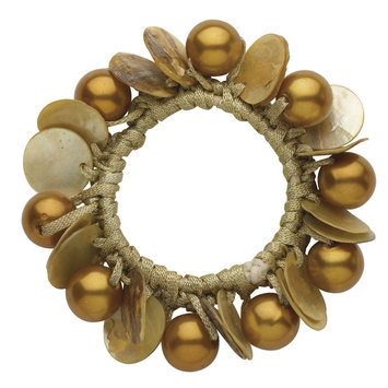 Dcnl Hair Accessories DCNL Topaz Pearl Shell Pony Bracelet
