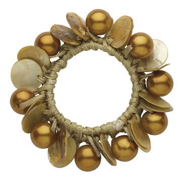 Dcnl Hair Accessories DCNL Topaz Pearl Shell Pony Bracelet