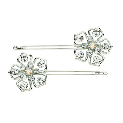 Dcnl Hair Accessories DCNL Fleur Slides With Crystals