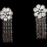 Dcnl Hair Accessories DCNL Crystal Flower Mini Combs
