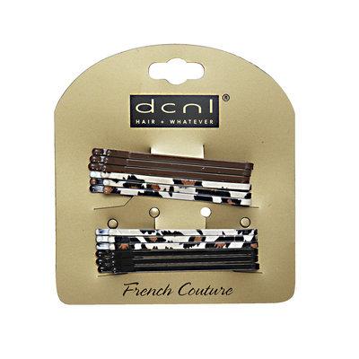 Dcnl Hair Accessories DCNL Animal Print Black & Brown Bobbies