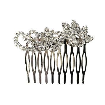 Dcnl Hair Accessories DCNL Rhinestone Scroll Comb