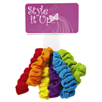 Style It Up Bright Color Ponytailers