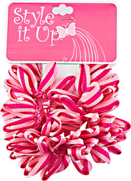 Style It Up Pink Fabric Scrunchies