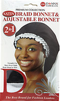 Donna Adjustable Braid Bonnet Black and White