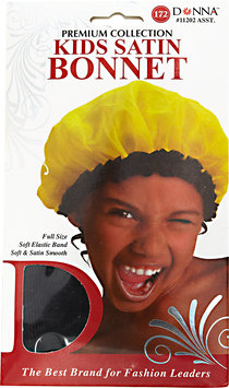 Donna Kids Black Satin Bonnet
