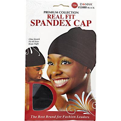 Donna Black Spandex Cap