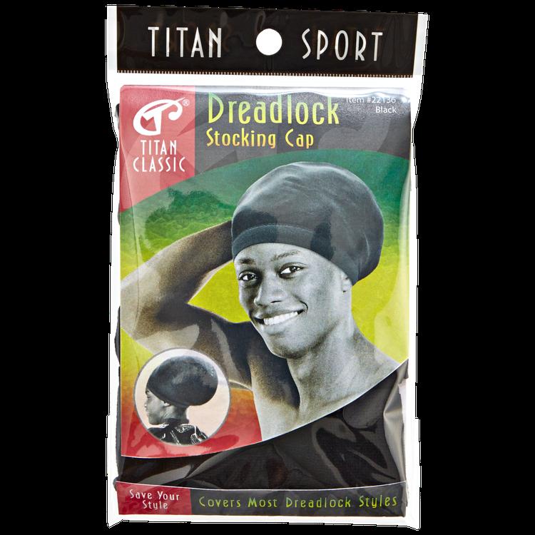 Titan Dreadlock Stocking Cap Black
