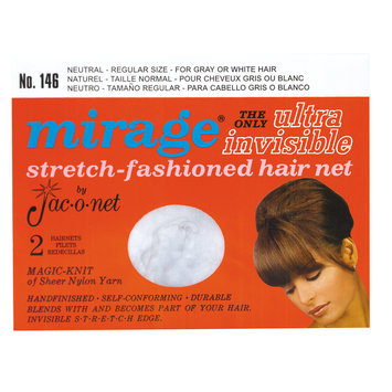 Jac-o-net Mirage Ultra Invisible Neutral Hair Net #146