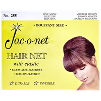 Jac-O-Net Nylon Bouffant Net - Medium Brown