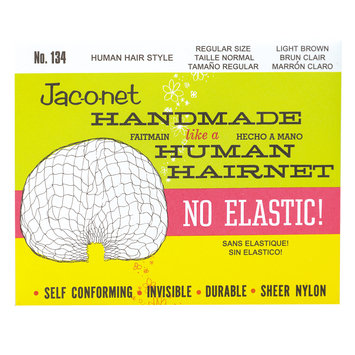 Jac-O-Net No Elastic Regular Hair Net Dark Brown