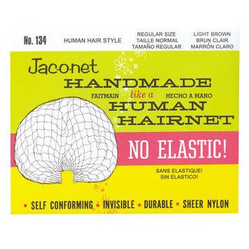 Jac-O-Net No Elastic Hair Net Regular Light Brown