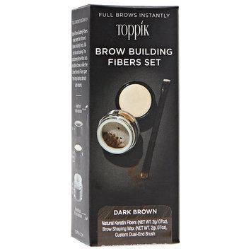 Toppik Brow Building Fibers Set Dark Brown