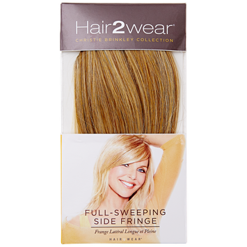 Hair2wear Christie Brinkley Full Sweeping Side Fringe HT2 Almost Black